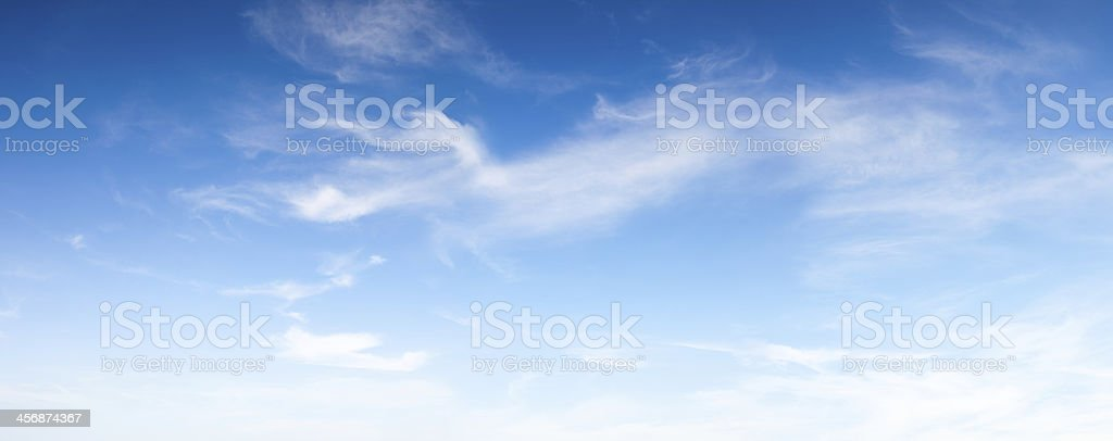 Blue soft sky stock photo
