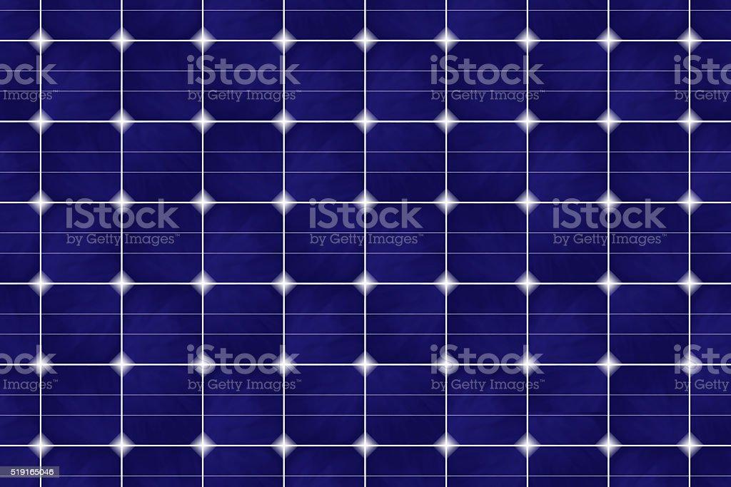 Blue Solar Grid Panel Futuristic Technology Global Renewable Energy Background stock photo