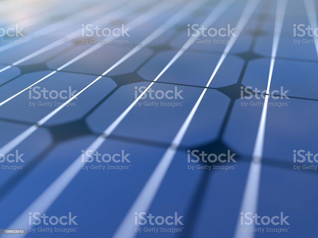 Blue Solar Panel Close-up stock photo