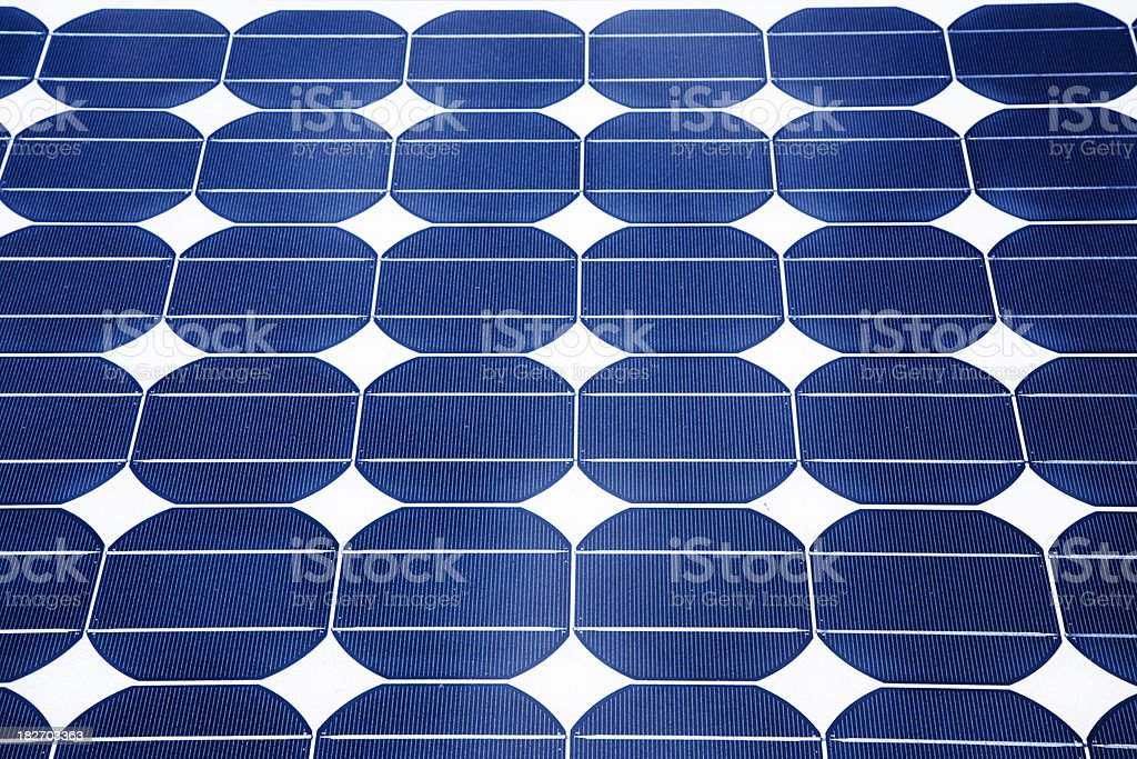 Blue Solar Panel royalty-free stock photo