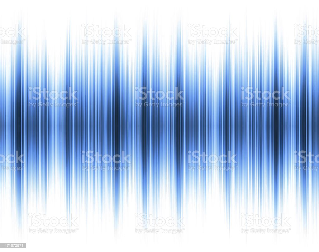 Blue Sound wave background stock photo