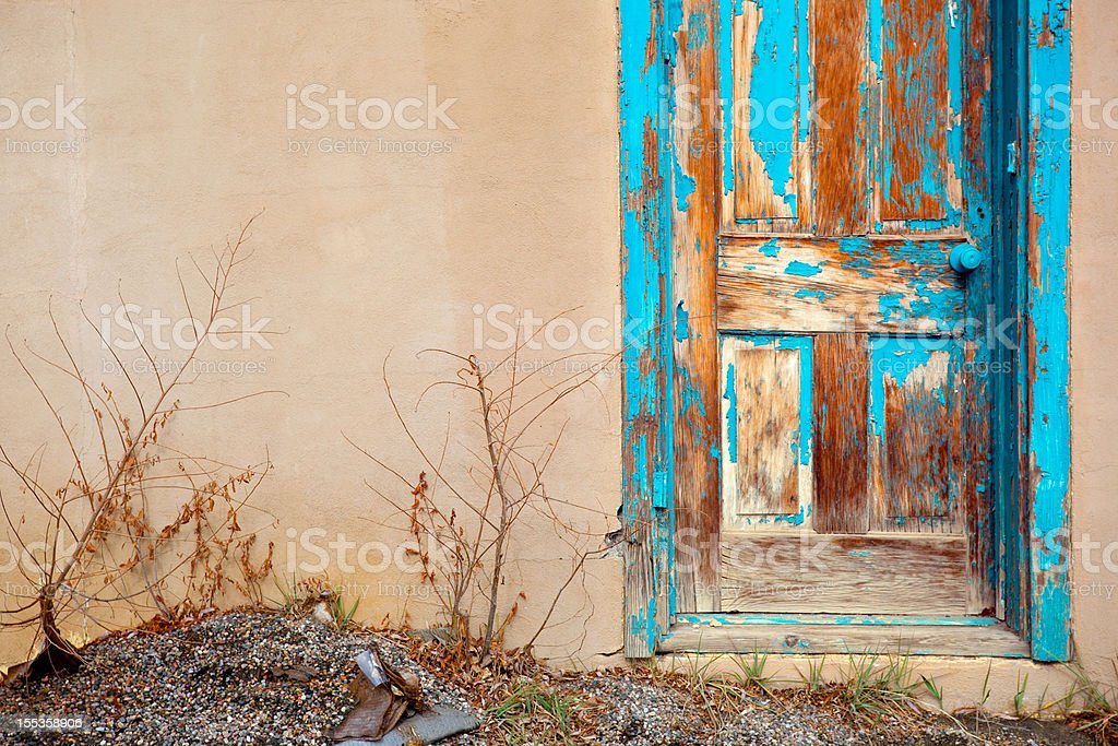 blue southwest door royalty-free stock photo