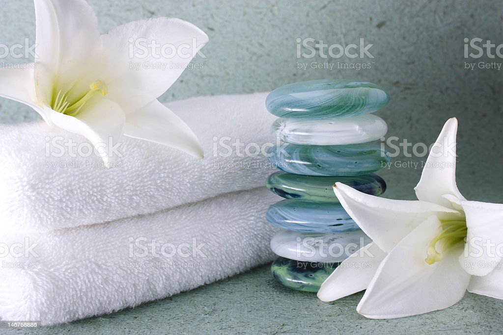 Blue Spa royalty-free stock photo