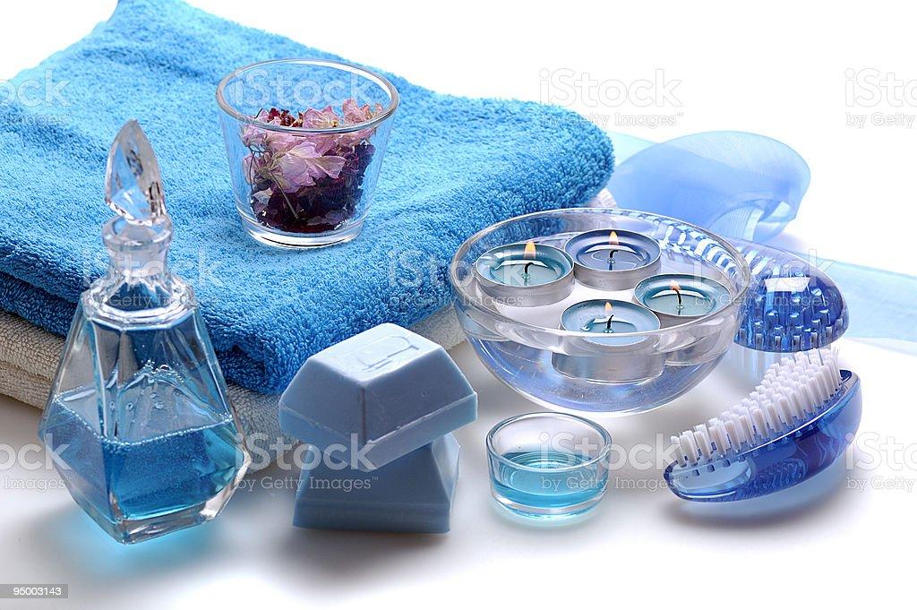 blue spa royalty-free stock photo