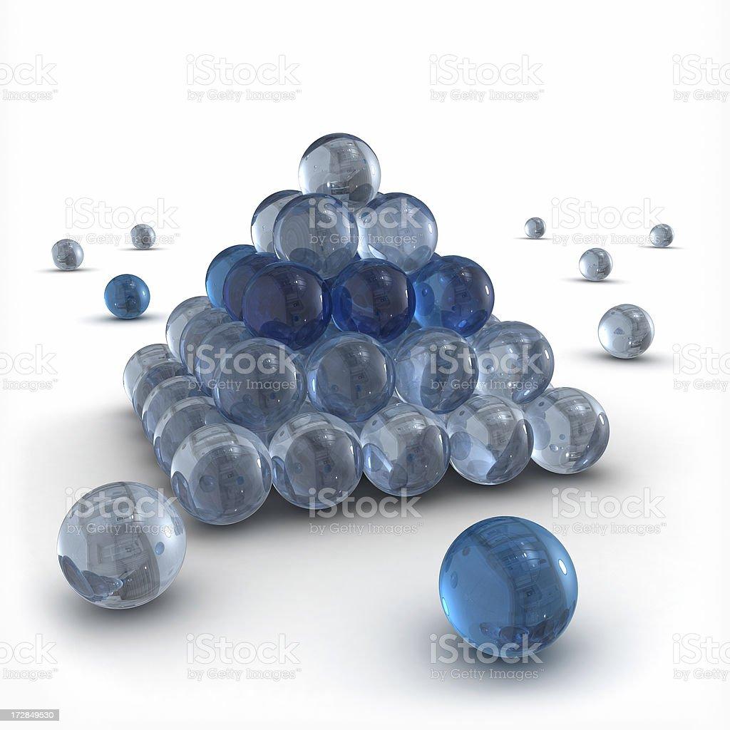 blue spheres stock photo