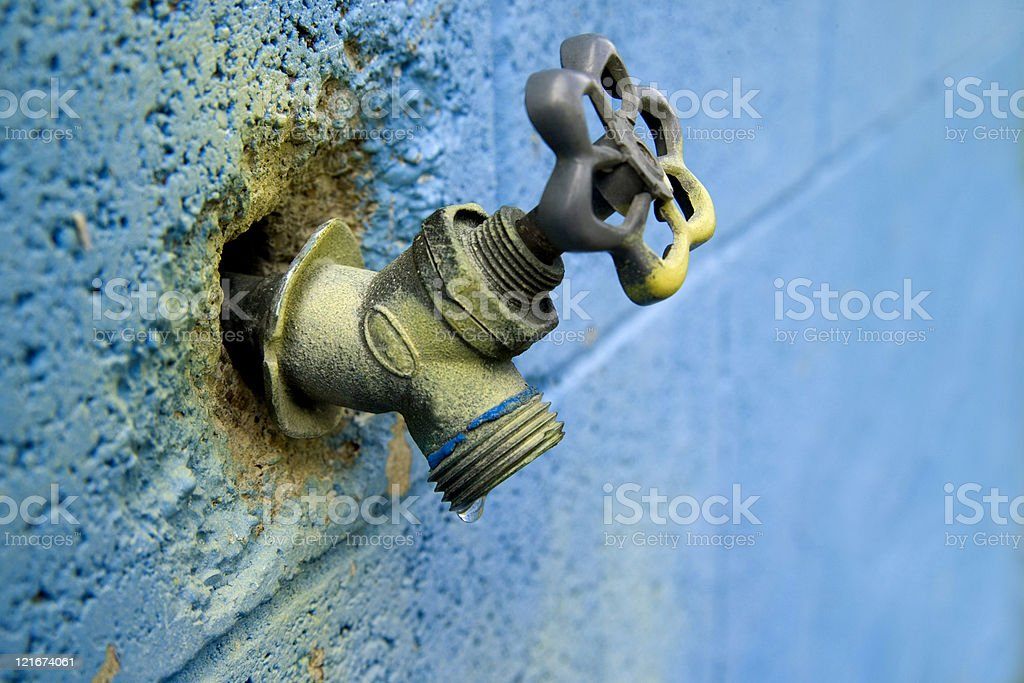 blue spigot royalty-free stock photo