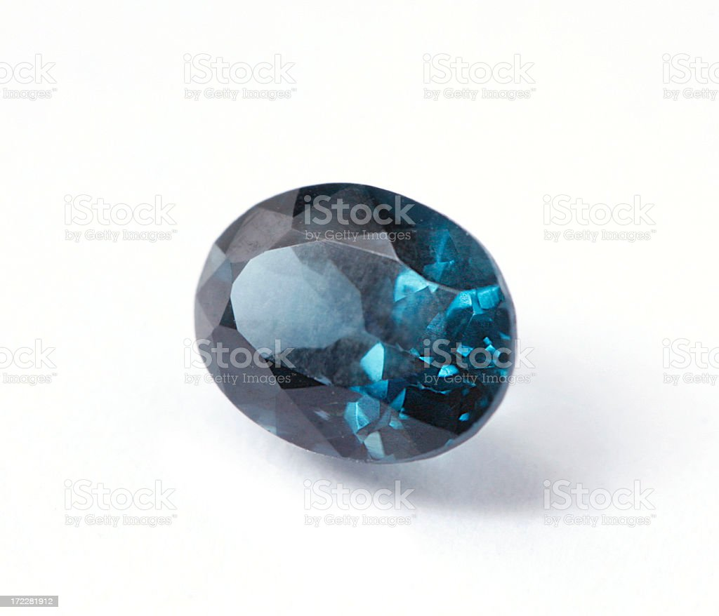 Blue Spinel stock photo