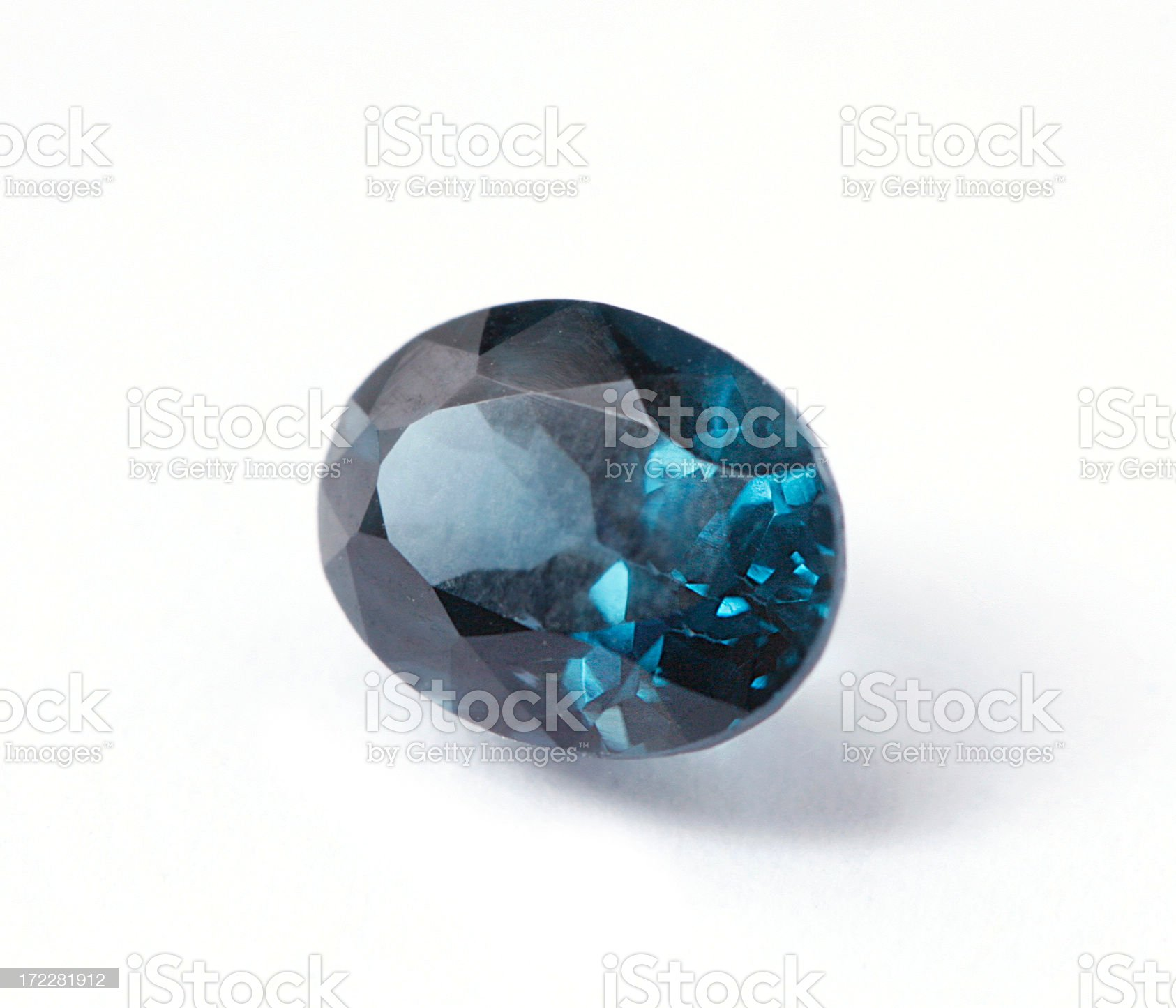 Blue Spinel royalty-free stock photo