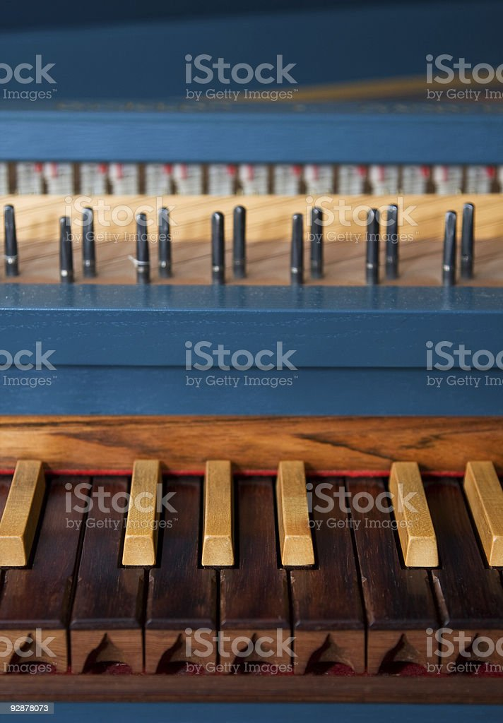 Blue spinet stock photo