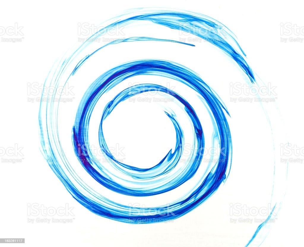 blue spiral stock photo