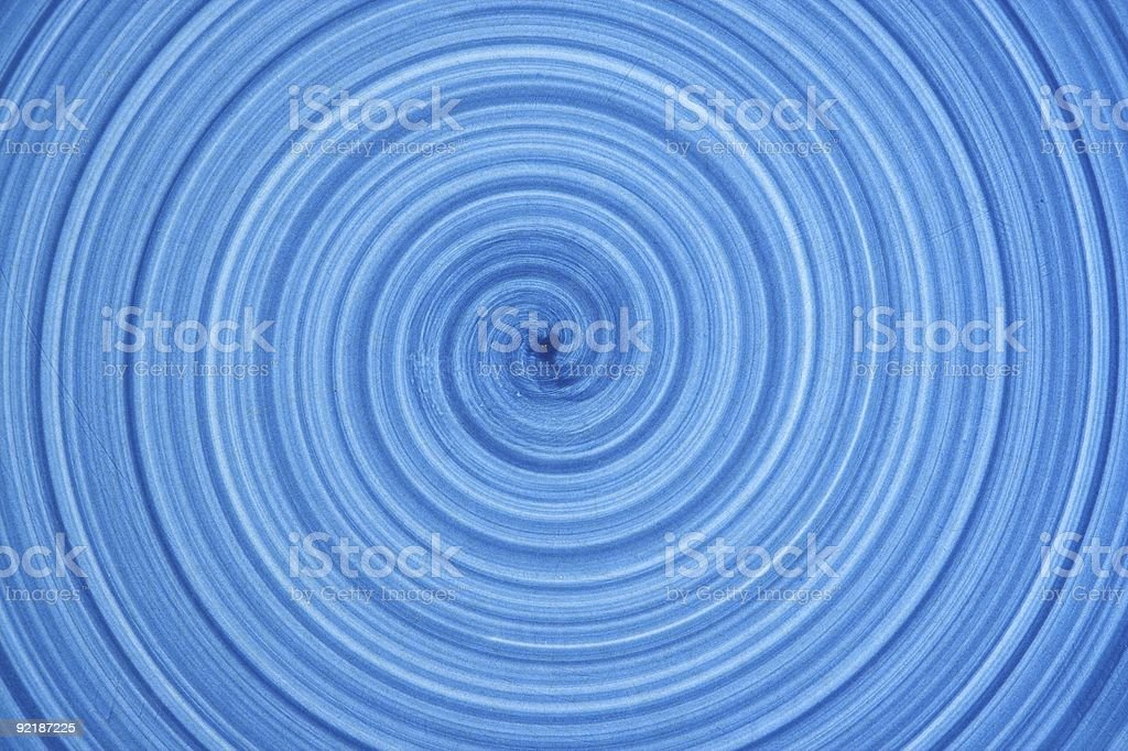 Blue Spiral royalty-free stock photo