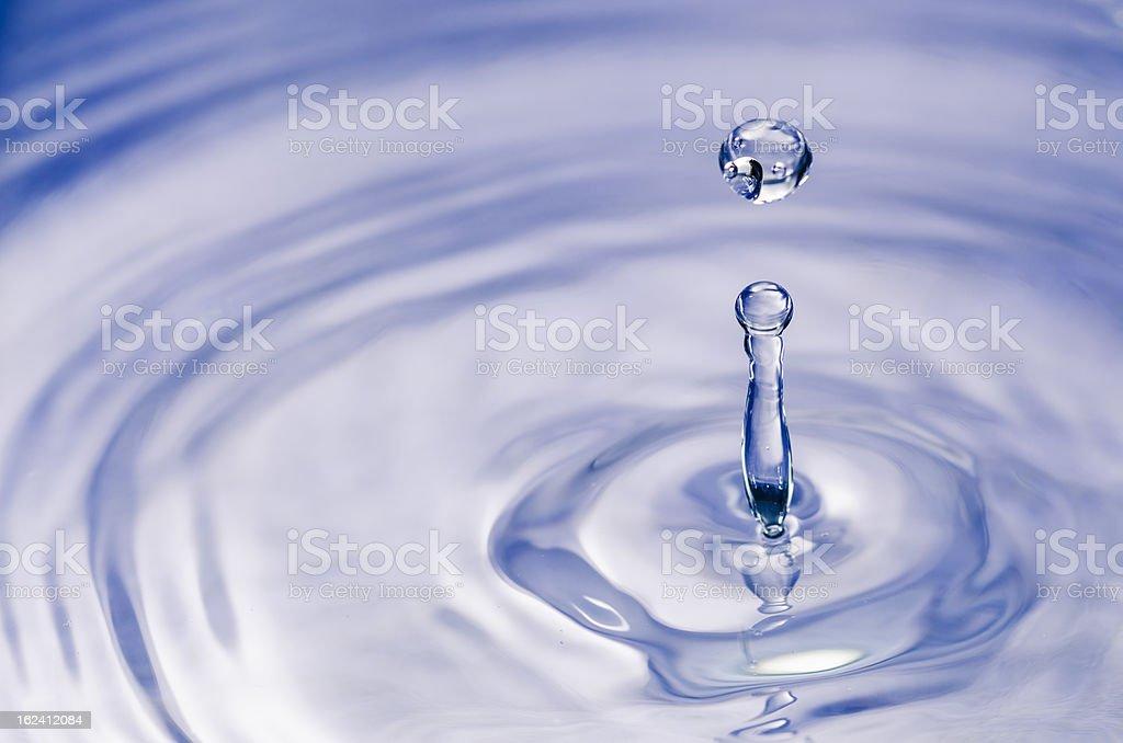 blue splash water royalty-free stock photo