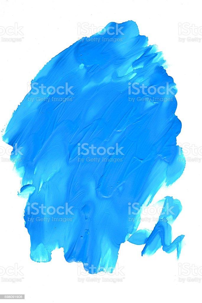 Blue spot on a white background stock photo