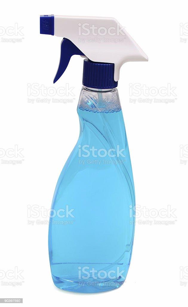 Blue spray stock photo