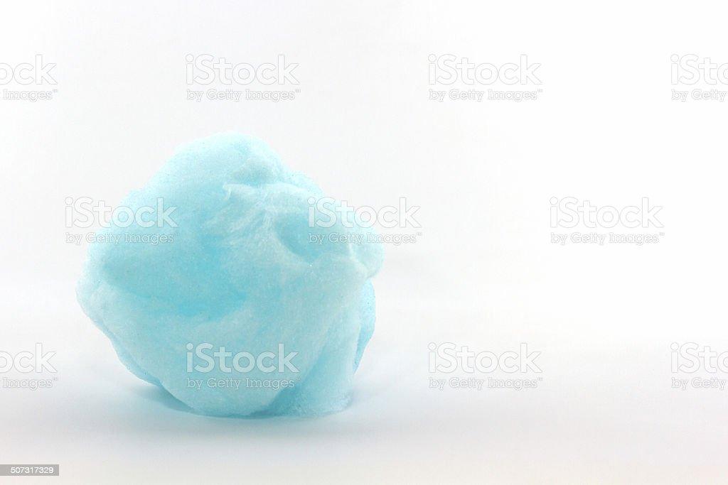 Blue spun sugar , Cotton Candy. stock photo