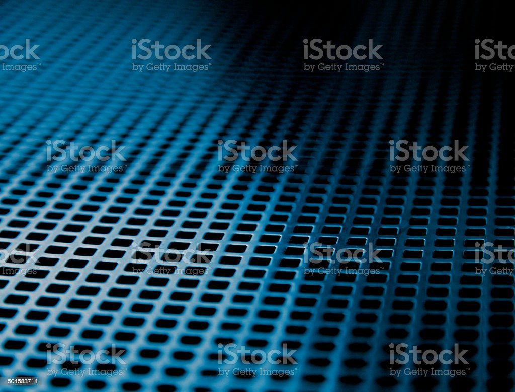 Blue squares future technology background steel metal pattern grid mesh stock photo