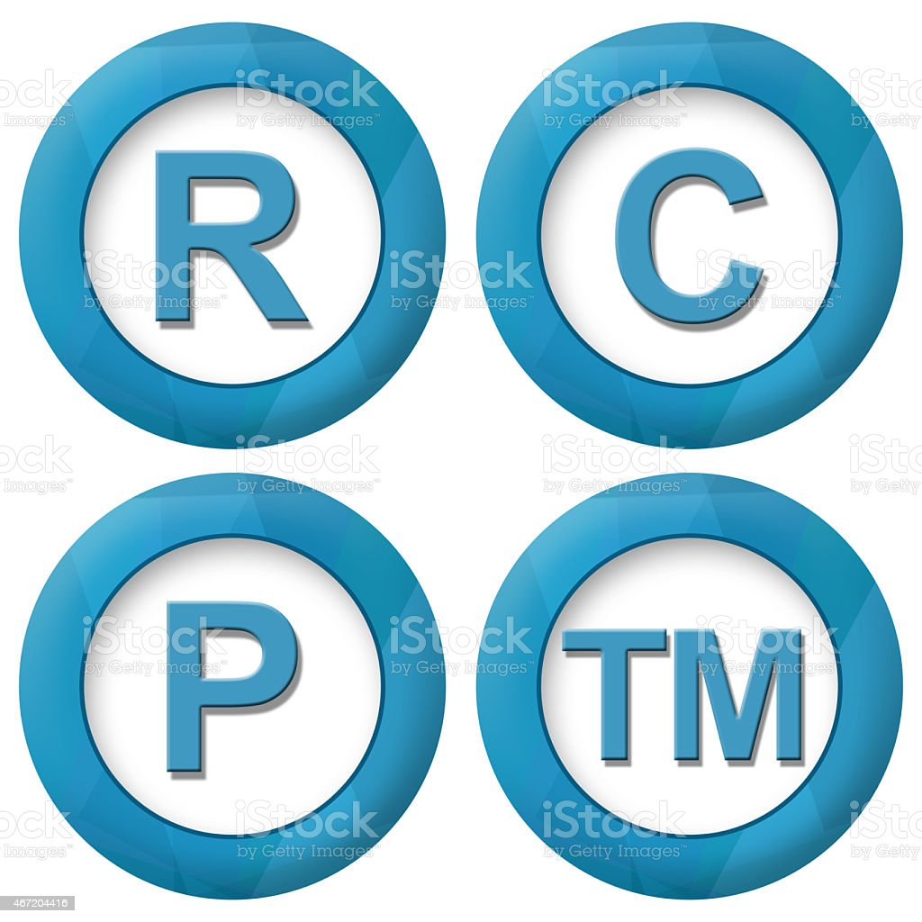 RCPTM Blue Squares Icons stock photo