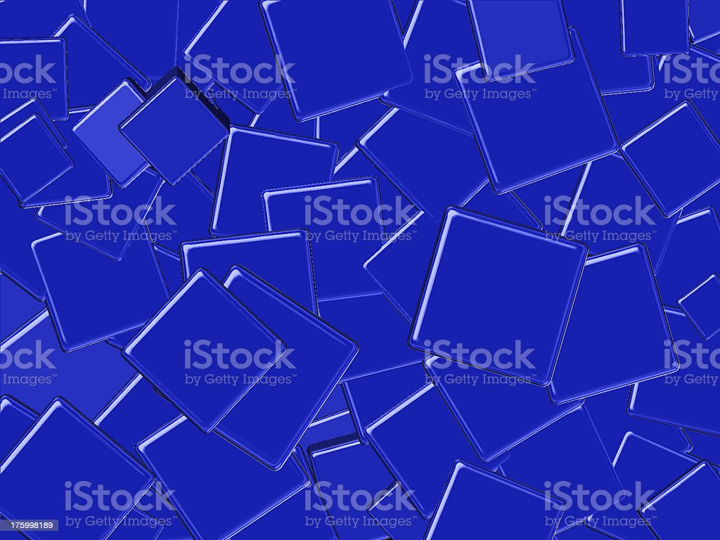 Blue Squares royalty-free stock photo