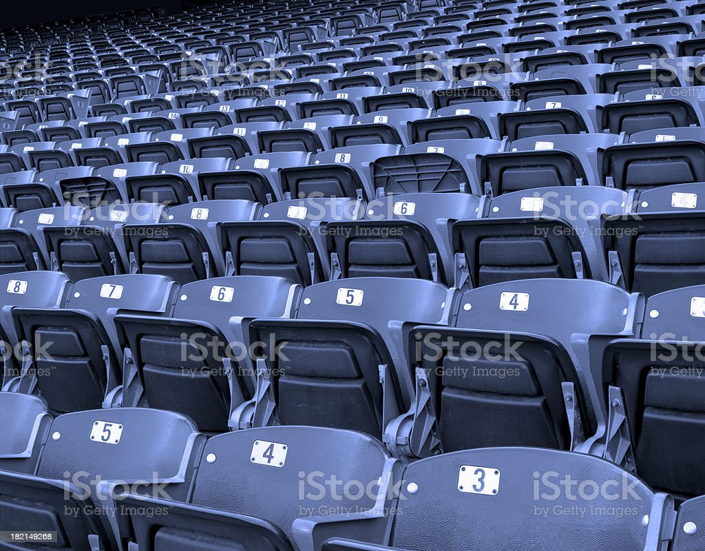 Blue Stadium Seating royalty-free stock photo