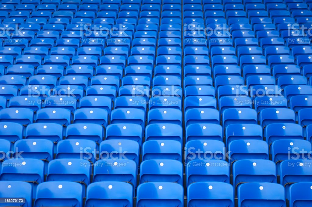 Blue Stadium Seating stock photo