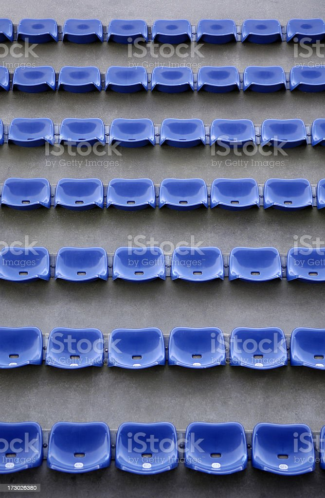 Blue stadium seats royalty-free stock photo