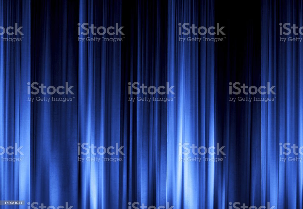 Blue Stage Curtain XXL royalty-free stock photo