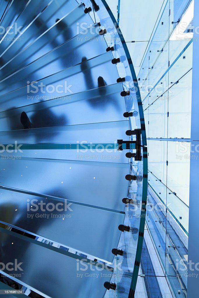 Blue stair case royalty-free stock photo
