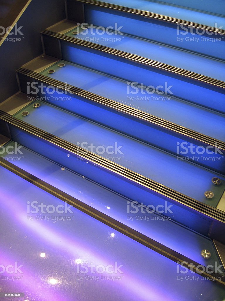Blue Staircase royalty-free stock photo