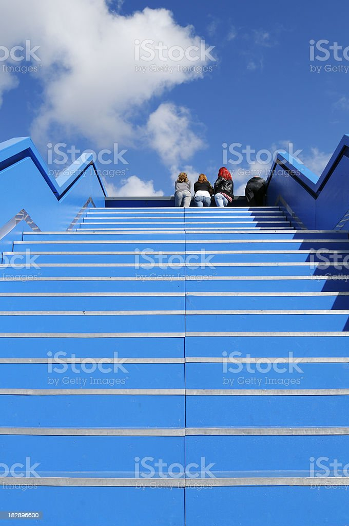 Blue Staircase to the Sky royalty-free stock photo