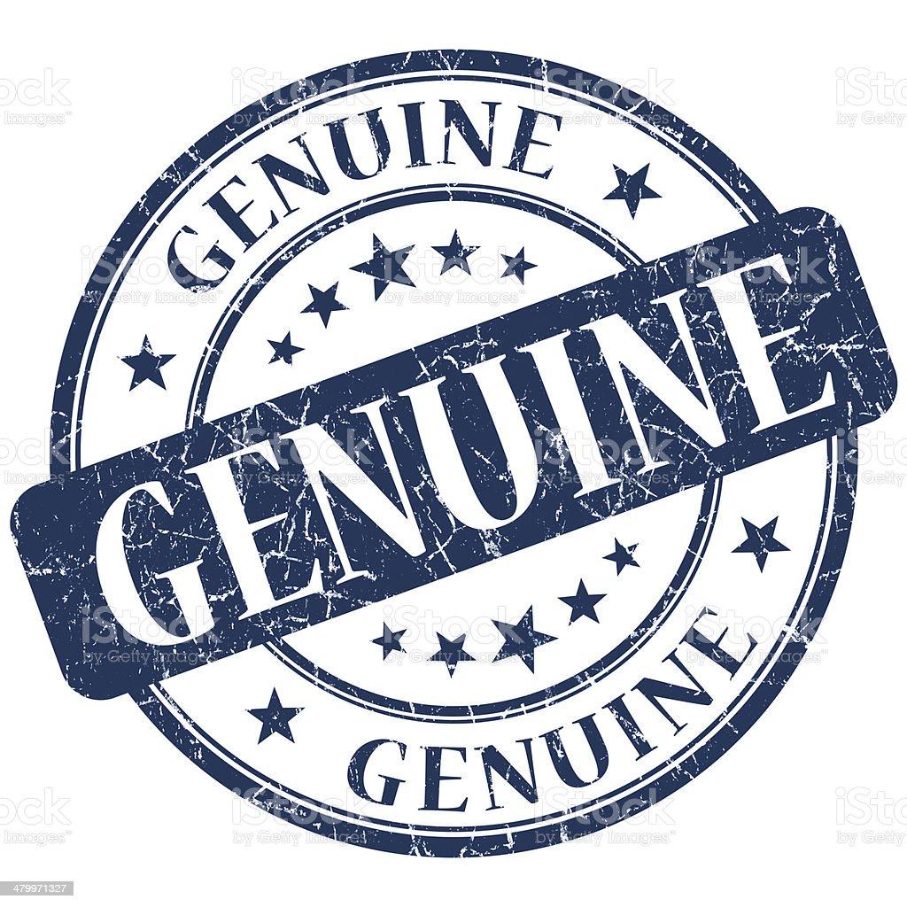 GENUINE blue stamp stock photo