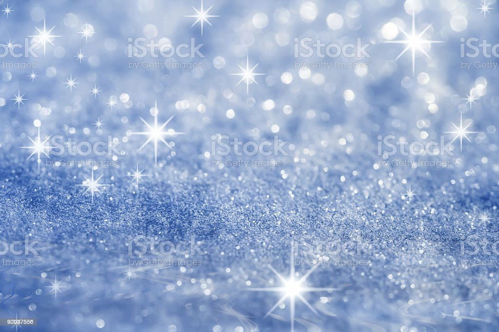 blue star and glitter sparkles  background stock photo