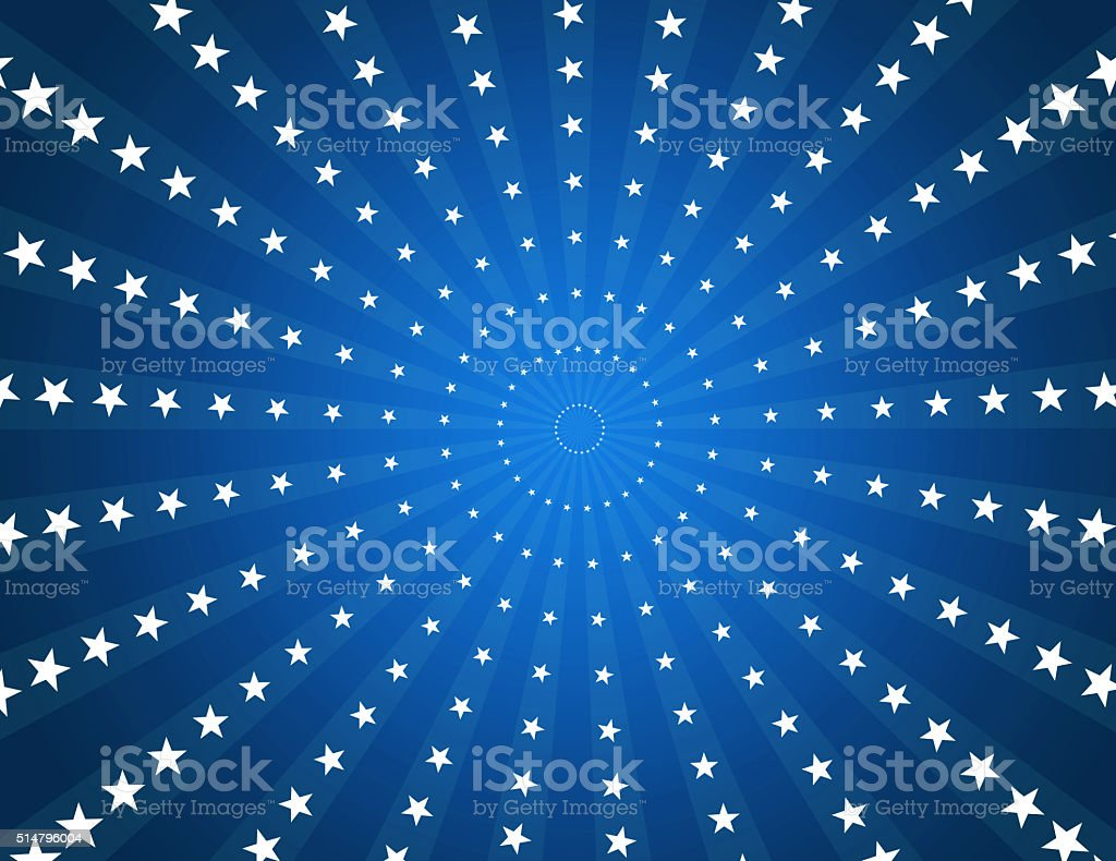 Blue Star Burst Background Retro Style stock photo