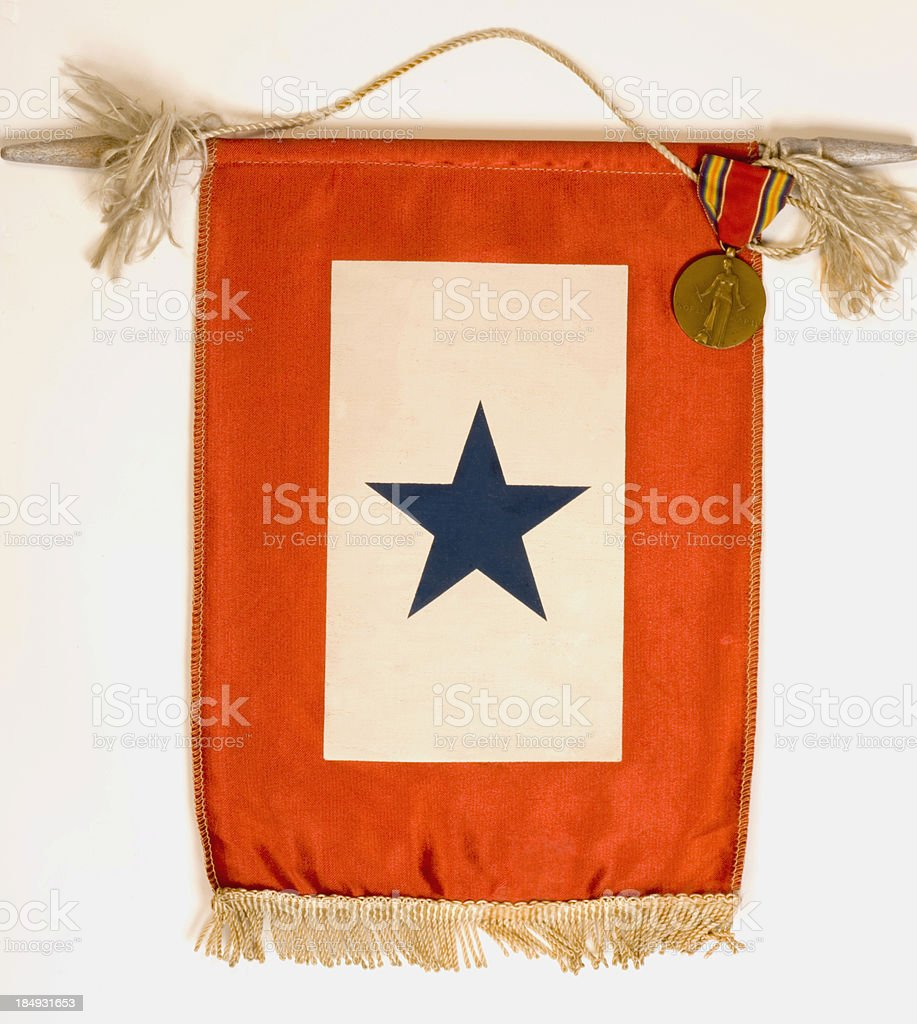 blue star flag and medal royalty-free stock photo