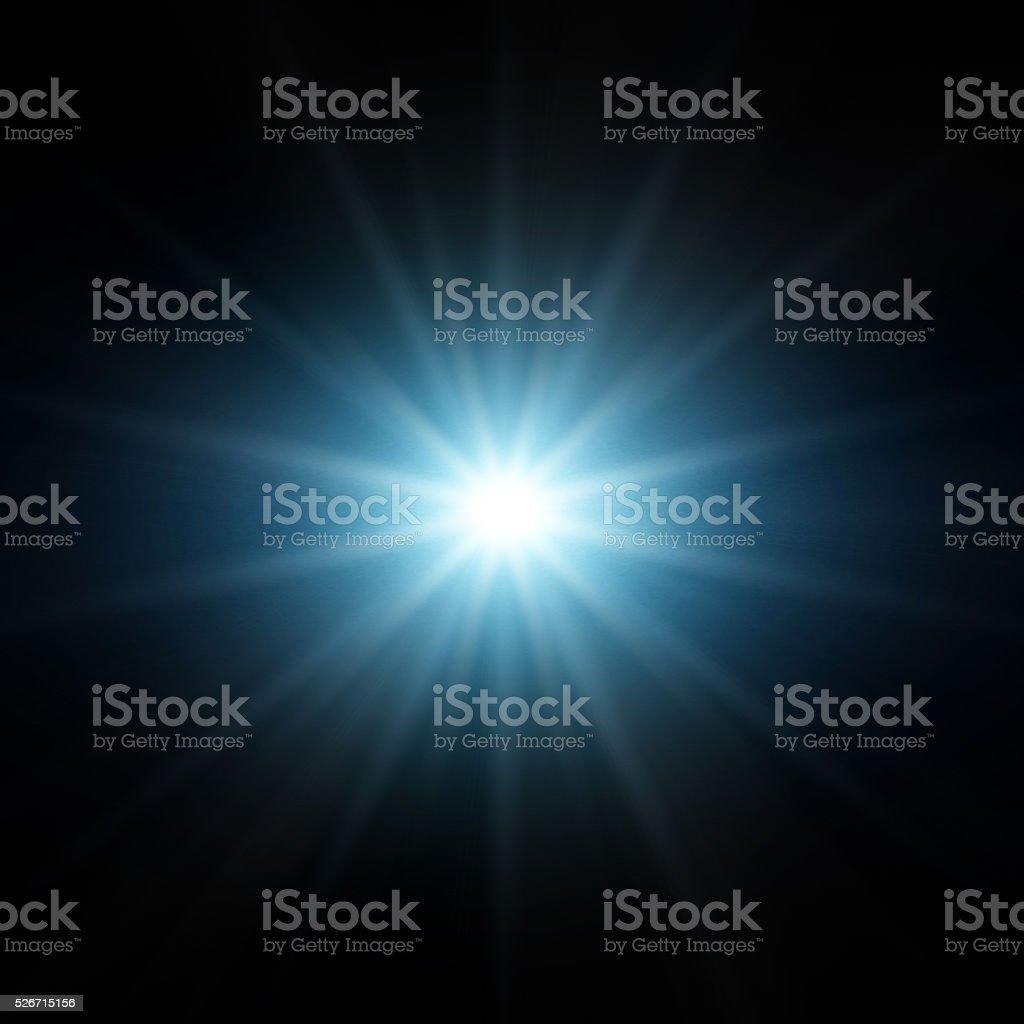 Blue Star Light stock photo