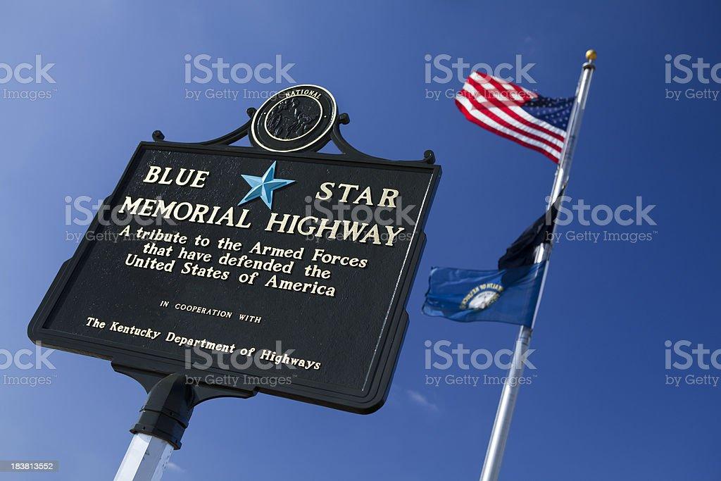 Blue Star Memorial Highway stock photo
