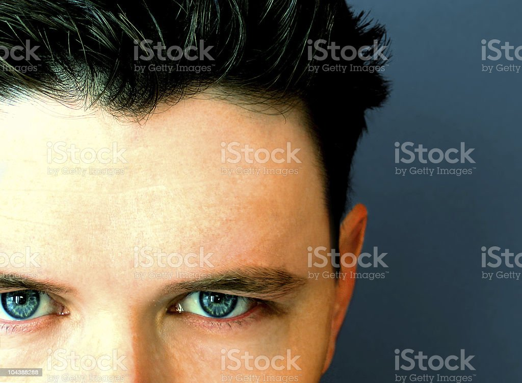 blue stare royalty-free stock photo