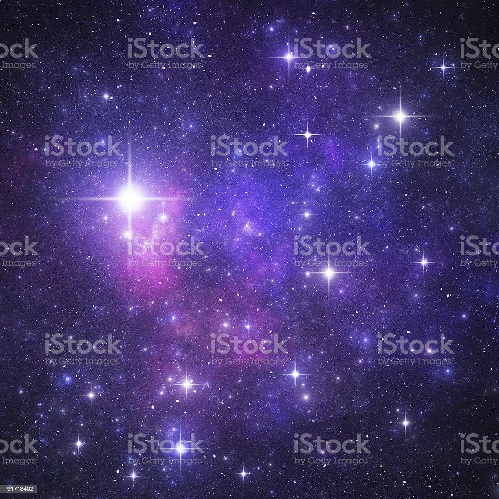 Blue starry heaven stock photo
