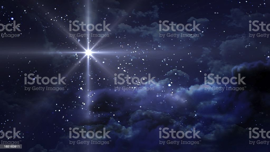 blue Starry Night stock photo