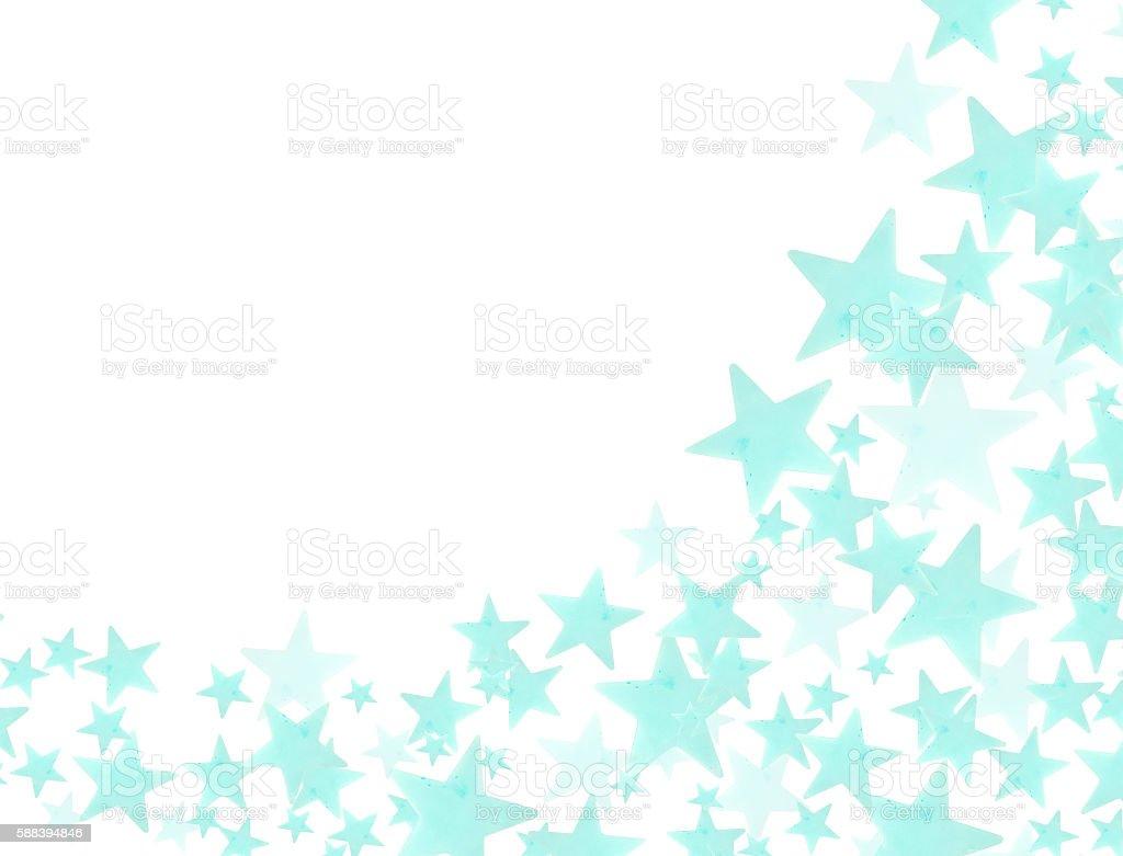 Blue stars on white background stock photo