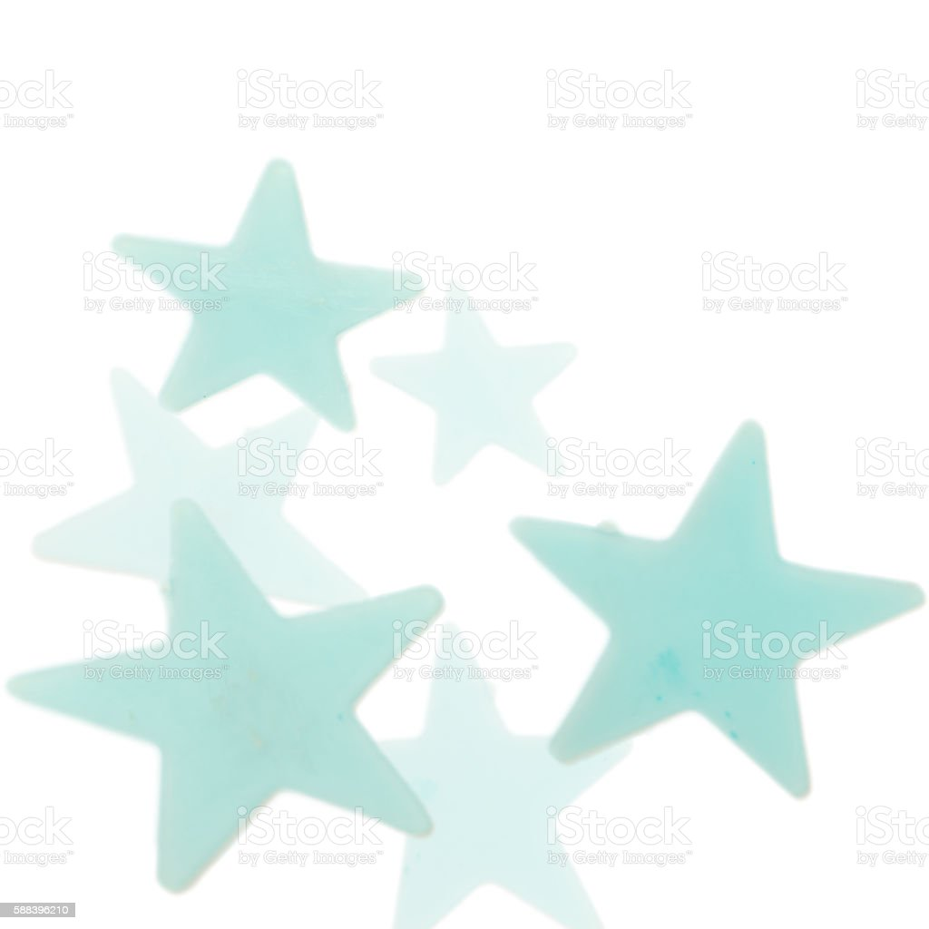 Blue stars on white background stock photo