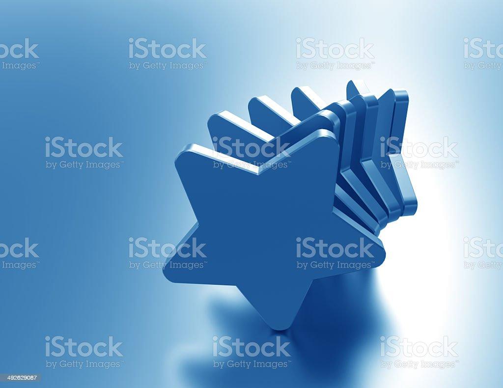blue stars rating symbol stock photo