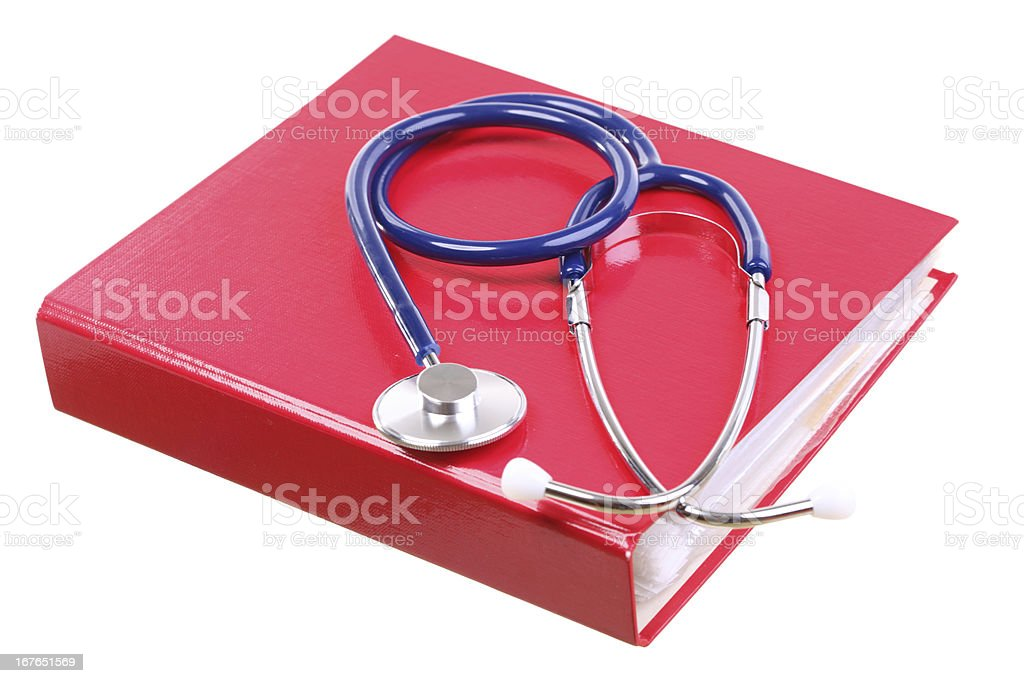 Blue stethoscope isolated on white royalty-free stock photo