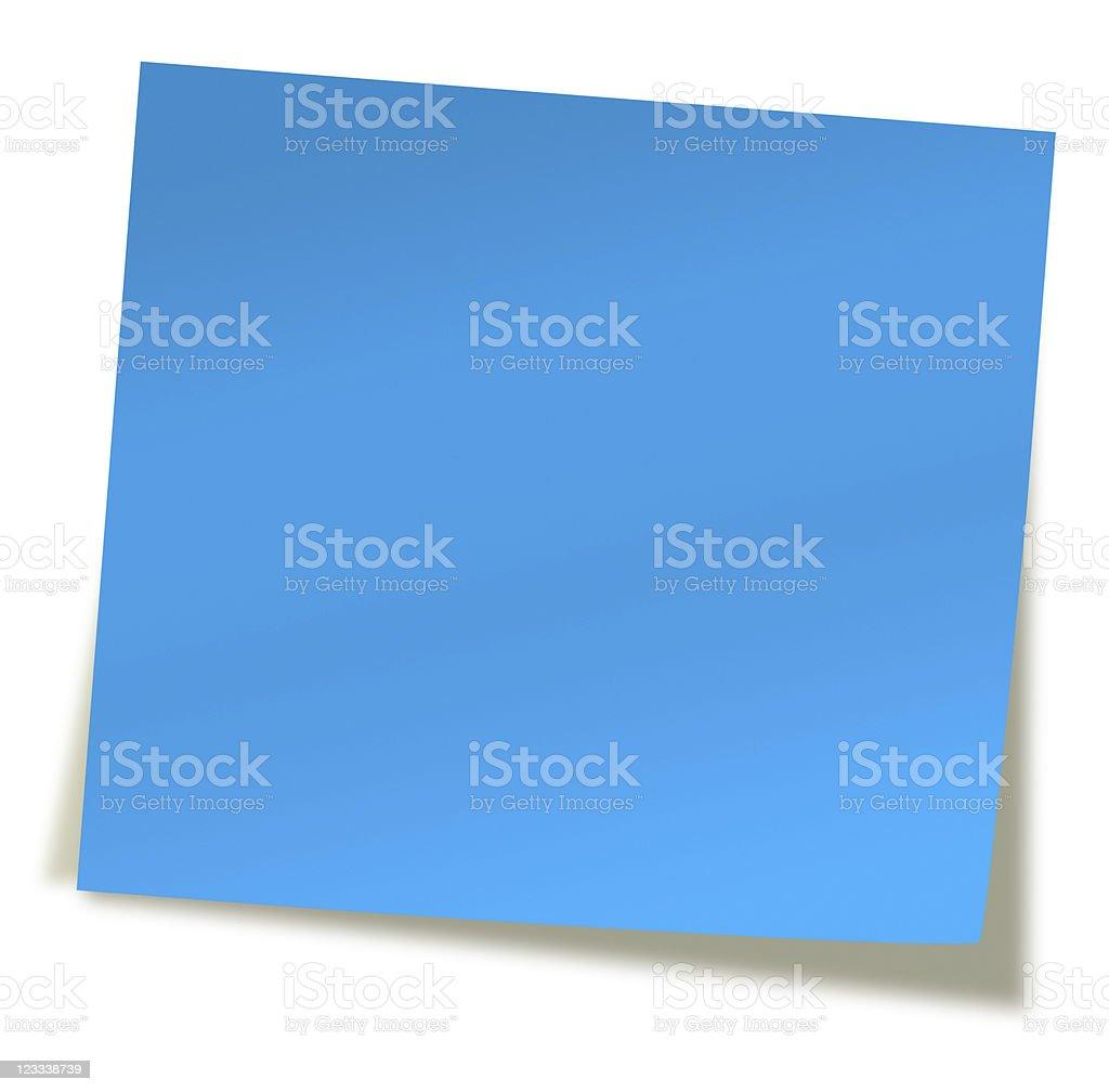 blue sticky note royalty-free stock photo