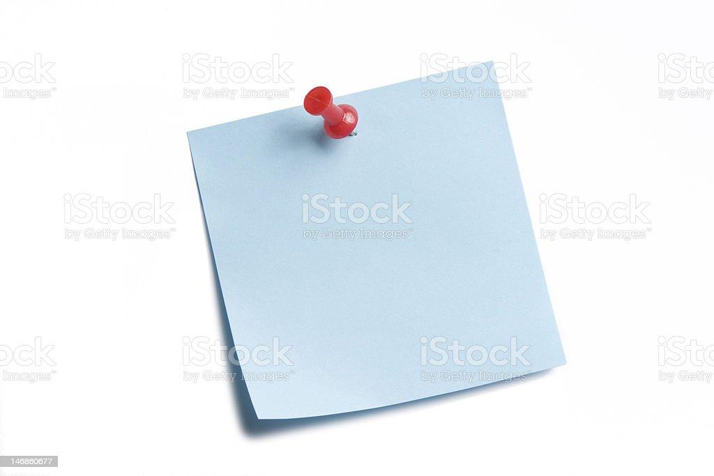Blue Sticky on White stock photo