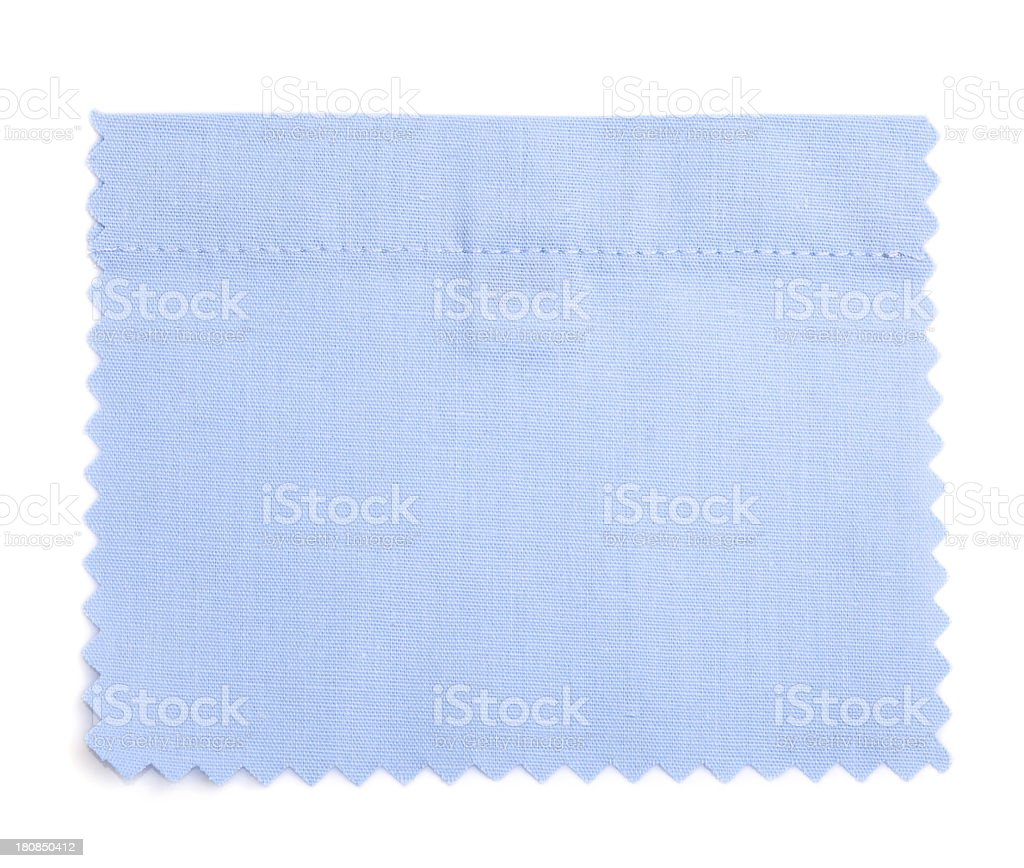 Blue Stitched Fabric Swatch royalty-free stock photo