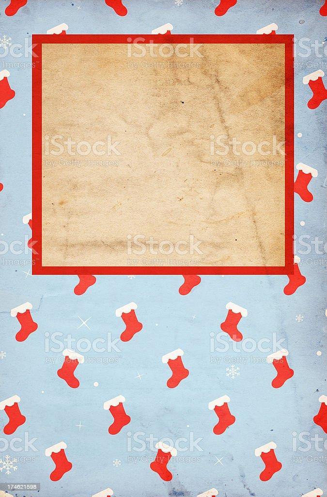 Blue Stocking Paper XXXL royalty-free stock photo