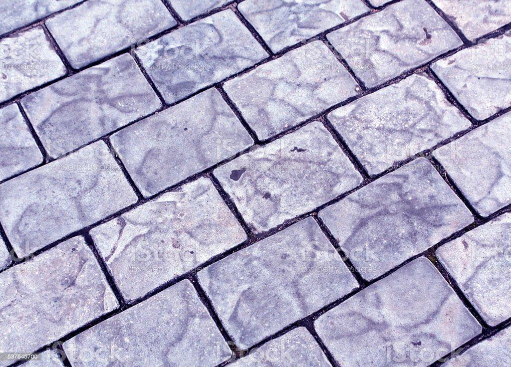 Blue stone pavement texture. stock photo