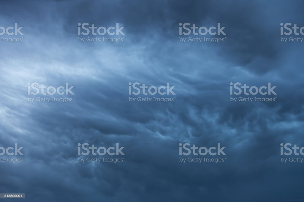 Blue storm clouds background stock photo