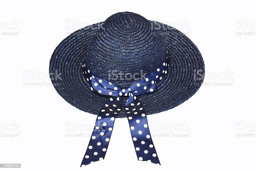 blue straw hat royalty-free stock photo