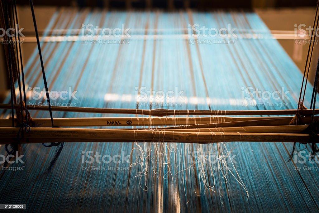 Blue strings stock photo
